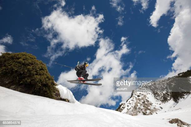 skier jumping - peter snow stock pictures, royalty-free photos & images