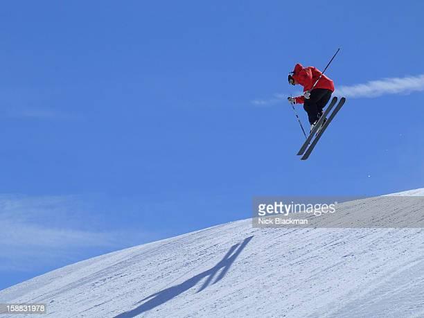 Skier Landing Jump at Keystone