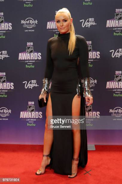 Skier Lindsey Vonn arrives at the 2018 NHL Awards presented by Hulu at the Hard Rock Hotel & Casino on June 20, 2018 in Las Vegas, Nevada.