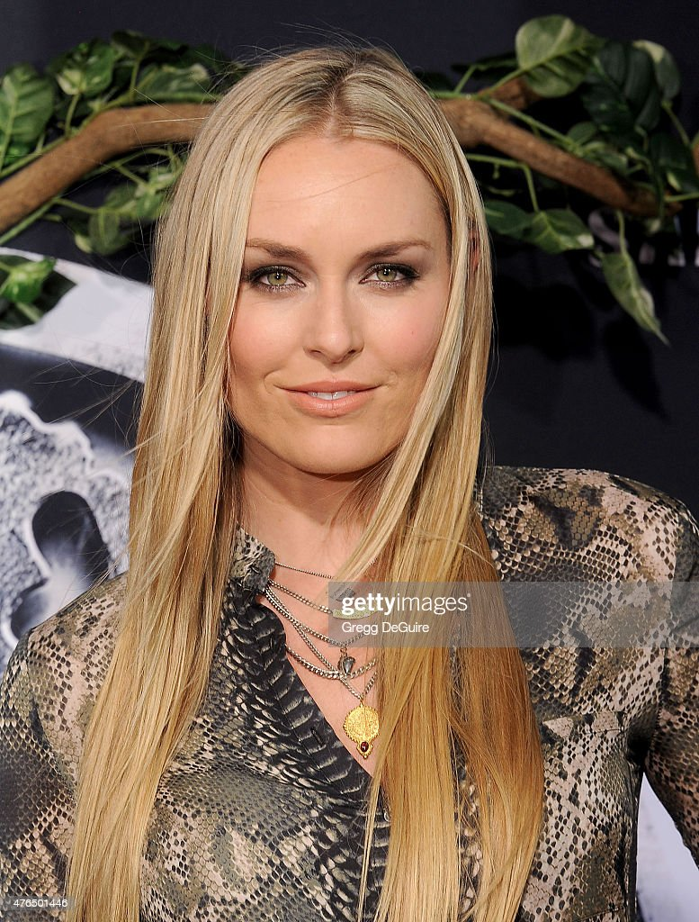 U.S. skier Lindsey Vonn arrives at the World Premiere of 'Jurassic World' at Dolby Theatre on June 9, 2015 in Hollywood, California.