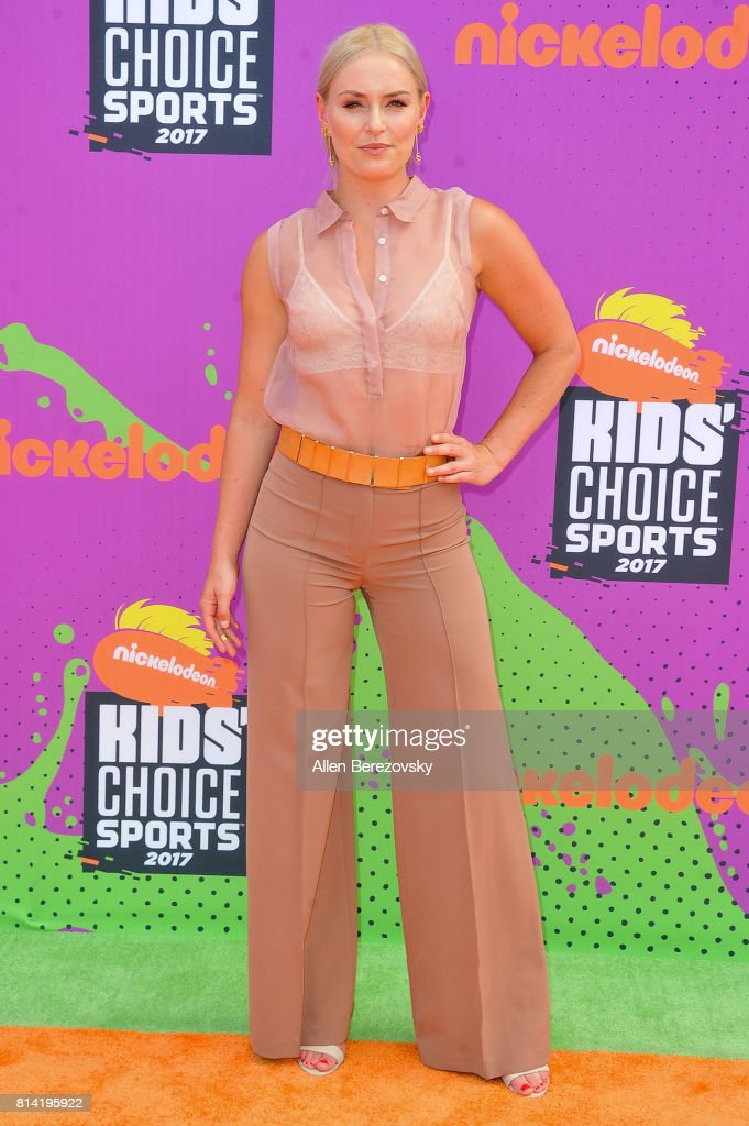 Skier Lindsey Vonn attends Nickelodeon Kids' Choice Sports Awards 2017 at Pauley Pavilion on July 13, 2017 in Los Angeles, California.
