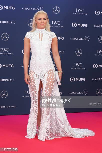 Skier Lindsey Vonn during the Laureus World Sports Awards 2019 at Sporting Club on February 18 2019 in Monaco Monaco