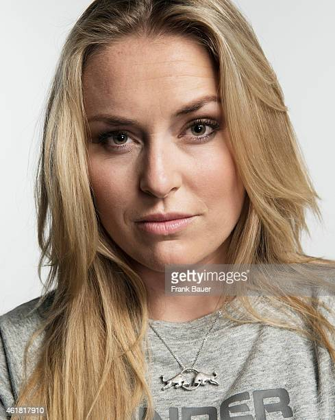 Skier Lindsey Vonn is photographed for Sonntags Zeitung on October 6 2014 in Hall in Tirol Austria