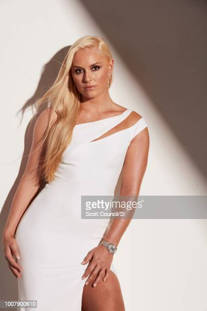 Skier Lindsey Vonn is photographed for Sports Illustrated on June 22 2018 in Culver City California CREDIT MUST READ Scott Council/Sports...