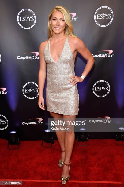 Skier Mikaela Shiffrin attends The 2018 ESPYS at Microsoft Theater on July 18 2018 in Los Angeles California