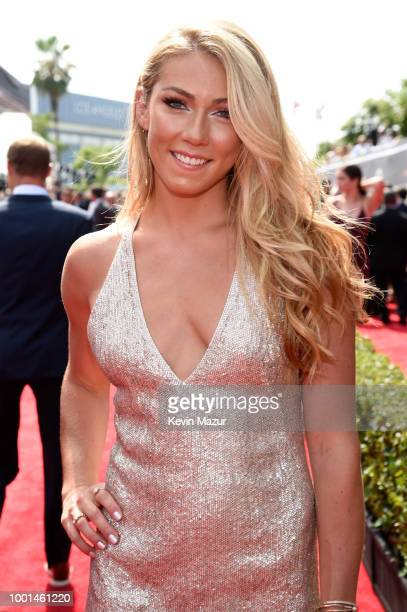 Skier Mikaela Shiffrin attends the The 2018 ESPYS at Microsoft Theater on July 18 2018 in Los Angeles California