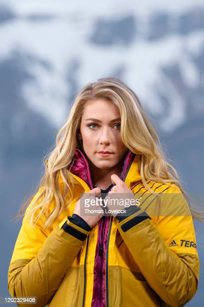 Skier Mikaela Shiffrin is photographed for Sports Illustrated on February 1, 2020 in Carbonate, Italy. COVER IMAGE. CREDIT MUST READ: Thomas...