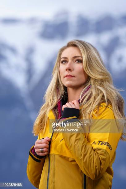 Skier Mikaela Shiffrin is photographed for Sports Illustrated on February 1, 2020 in Carbonate, Italy. CREDIT MUST READ: Thomas Lovelock/Sports...
