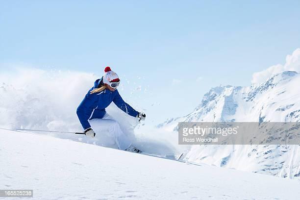 Skier on snowy slope