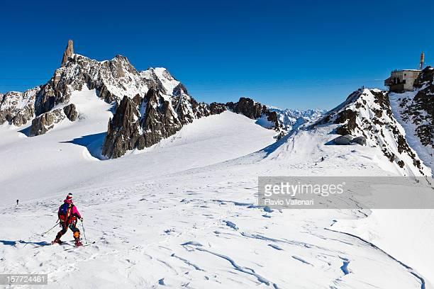 Sci sul ghiacciaio del gigante, Massiccio del Monte Bianco