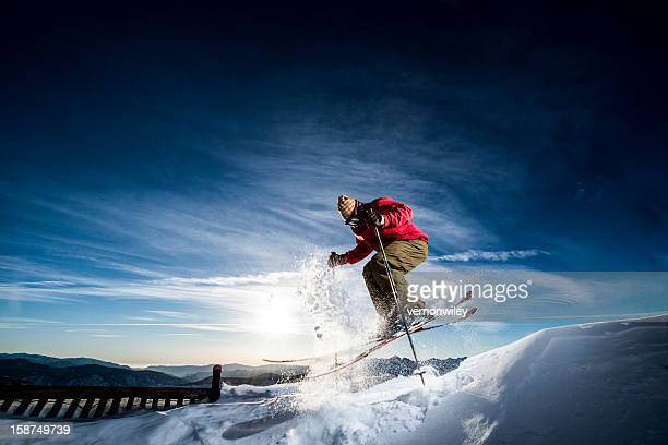 skier - telemark stock pictures, royalty-free photos & images