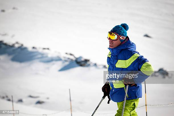 skier - val thorens stock pictures, royalty-free photos & images