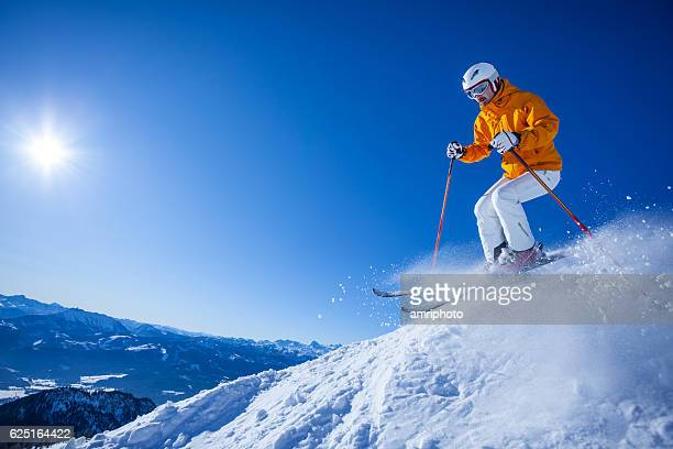 skier skiing off the beaten track