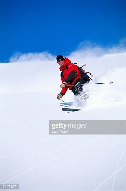 a skier skiing. - telemark stock pictures, royalty-free photos & images
