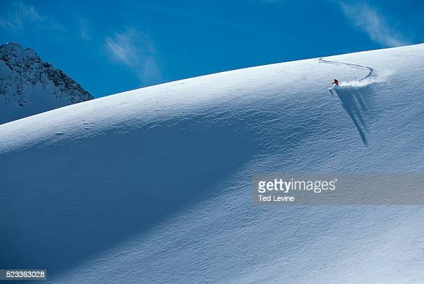 skier, zugspitze, germany, europe - downhill skiing stock pictures, royalty-free photos & images