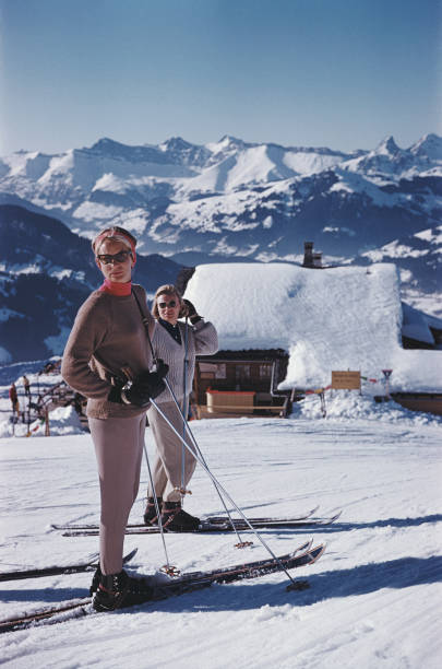 Skiers In Gstaad