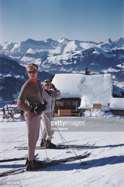 Skiers at Gstaad Switzerland March 1961