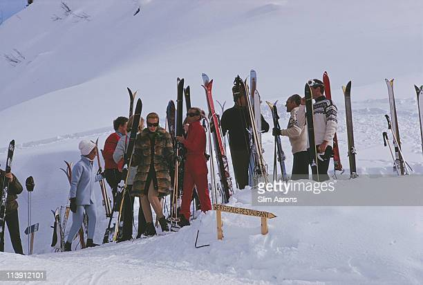 Skiers at Gstaad Switzerland March 1969