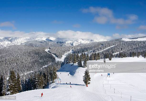 skiers at vail - colorado stock pictures, royalty-free photos & images
