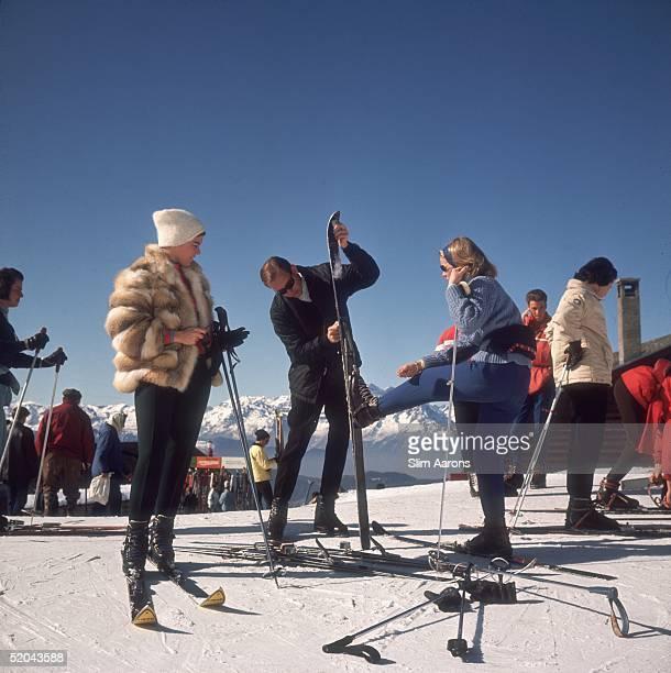 Skiers at Verbier 1964