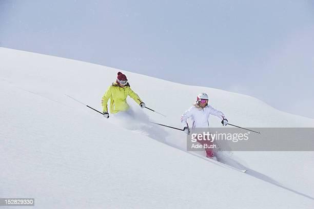 スキースロープに coasting ユキコ