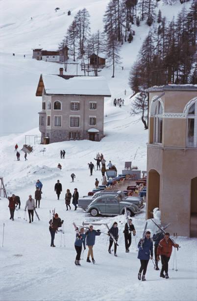 Skiers In St. Moritz