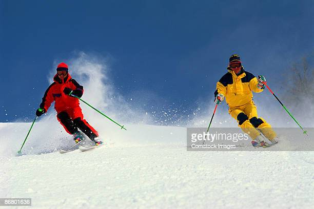 skiers - mont tremblant stock pictures, royalty-free photos & images
