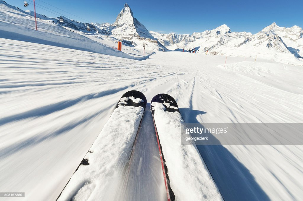 Skier's Point of View : Stock Photo
