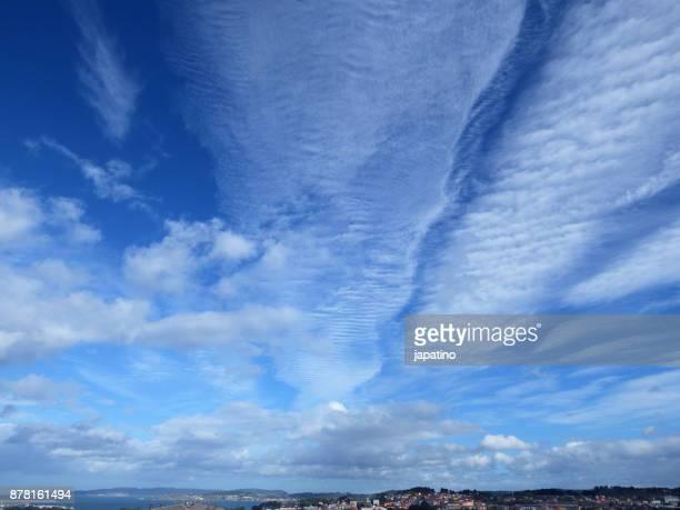 Skies with cirrus clouds