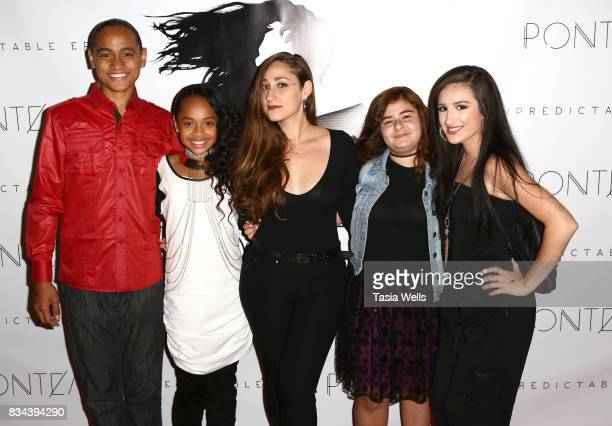 Skii, Nancy Fifita, Pontea, Kendall Montroe and Savannah Garza at the Pontea EP Release Party at The Federal on August 17, 2017 in North Hollywood,...