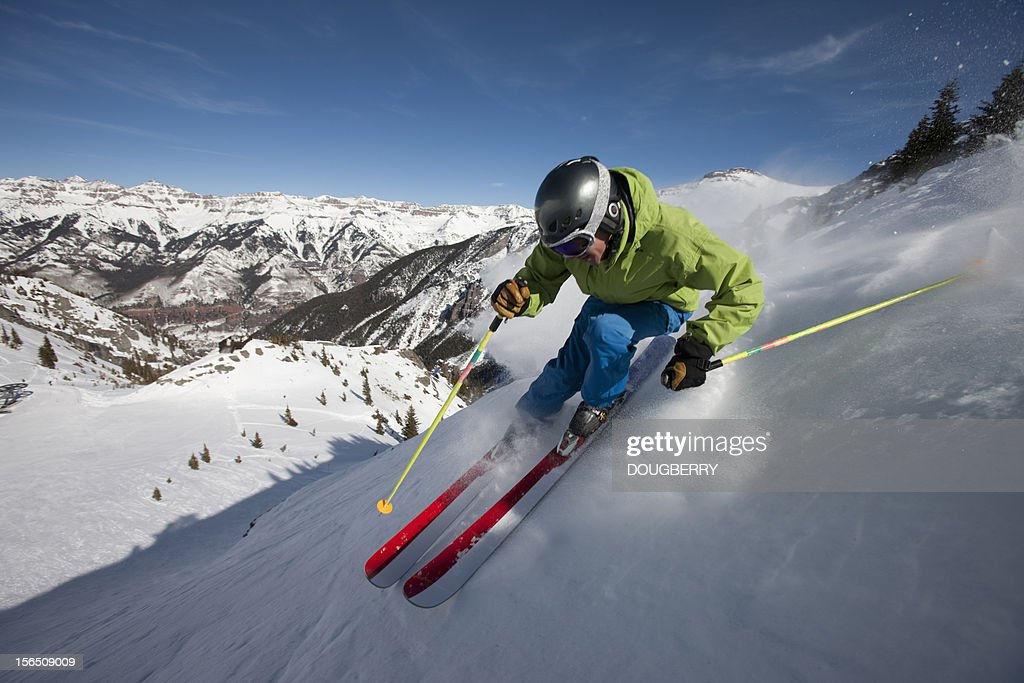 Skiing Action : Stock Photo