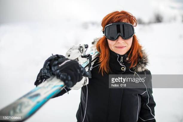 skiing and having fun - ski pole stock pictures, royalty-free photos & images