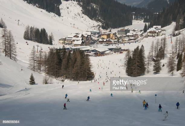 Skiing area in the Alps, Zauchensee/Flachauwinkl ski resort, Austria
