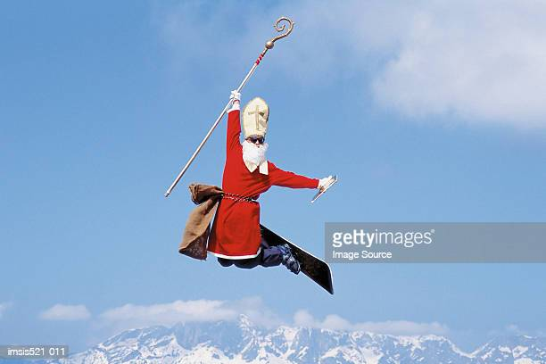 Skiing as a pope