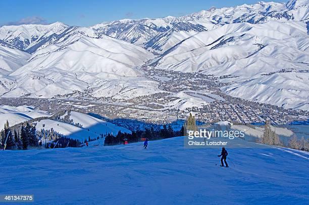 Skiing at Mount Baldy, Sun Valley, Idaho