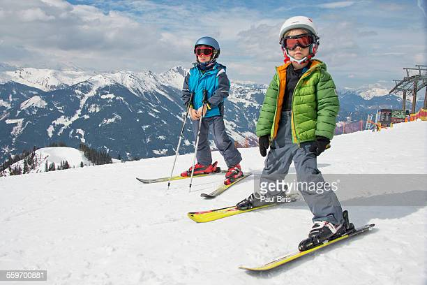 Skiing at Zauchensee ski-region, Austria