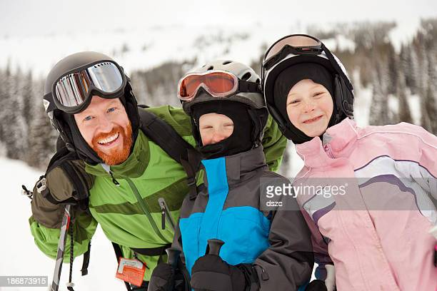 skiing day with dad