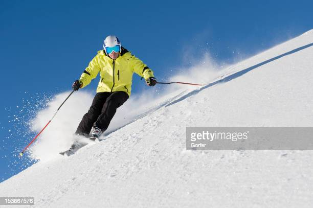 skiing free feeling - ski racing stock pictures, royalty-free photos & images