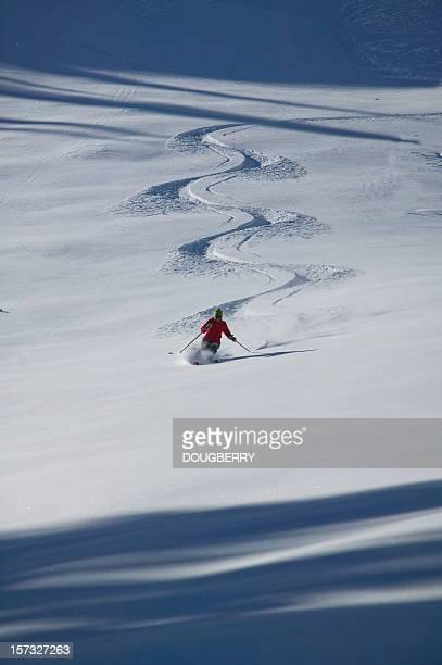 untracked esqui na neve fresca - primeiro tempo esporte - fotografias e filmes do acervo