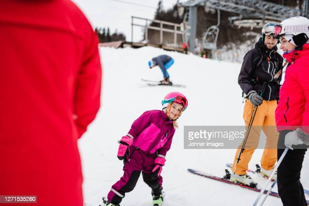 skiing girl on slope - sweden stock pictures, royalty-free photos & images