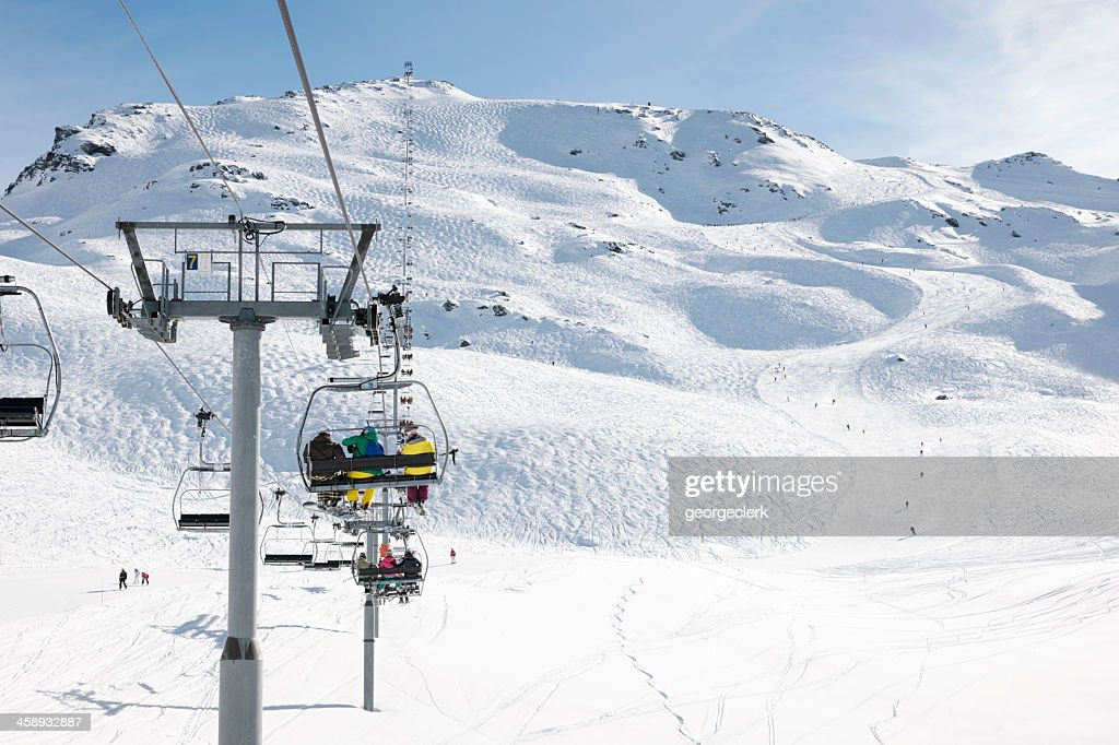 Skiing Holiday in France : Stock Photo