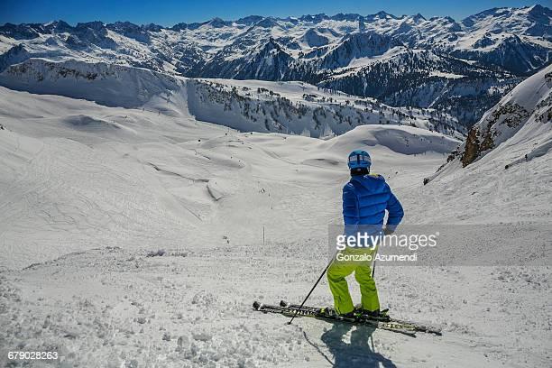 Skiing in Baqueira Beret.