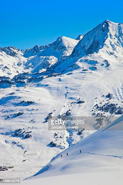 Skiing in Baqueira.