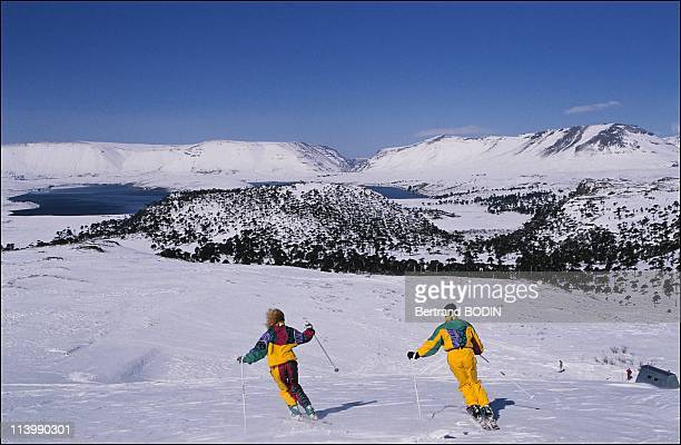 Skiing in Chile and Argentina In Buenos Aires, Argentina On February 25, 1991-Ski and monoski on the slopes of San Carlos de Bariloche.