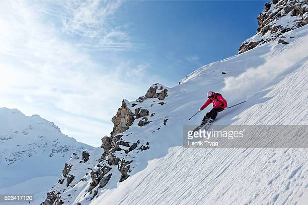 skiing in davos - davos stock pictures, royalty-free photos & images