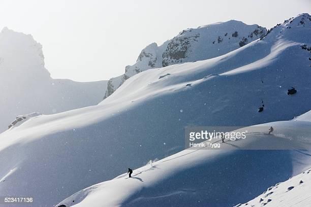 skiing in davos - kanton graubünden stock-fotos und bilder