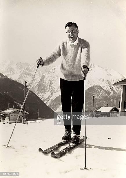 Skifahren in den 1950 er Jahren