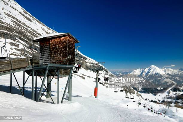 skiing in wurzeralm - upper austria stock pictures, royalty-free photos & images