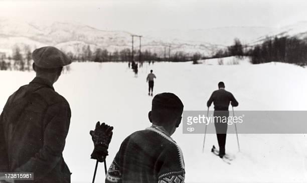 Ski Norvège des Années 1950