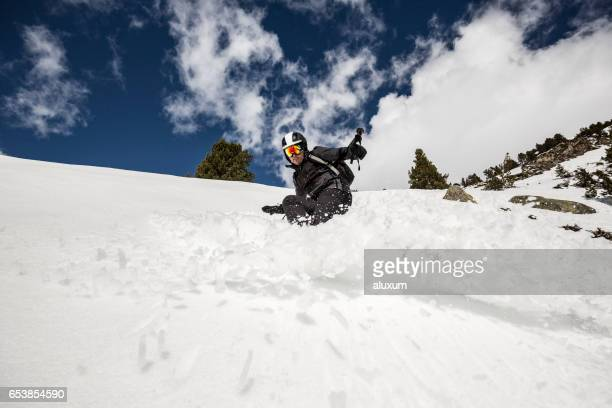 skiing off piste - peter snow stock pictures, royalty-free photos & images
